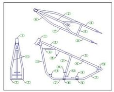 Custom Chopper 300 Rigid Frame Plans Blueprints