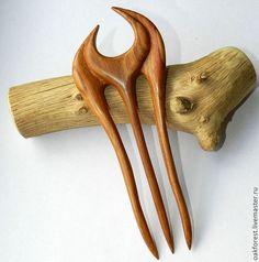 """Заколки ручной работы. Ярмарка Мастеров - ручная работа. Купить Заколка - шпилька для волос из дерева """"Клеопатра"""" (вишня). Handmade."""