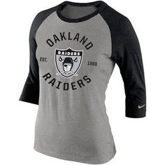 Womens Oakland Raiders Nike Gray Tri-Blend Helmet Tank Top