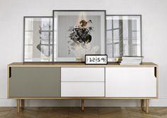 TV dressoir HIFI Audio Meubel voorzien van schuifpanelen en 2 laden grootte 2 meter Design TV wallunit