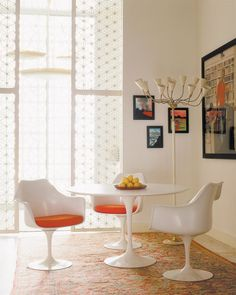 Knoll International - Saarinen Tulip Table & Tulip Chair