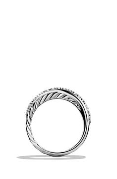 David Yurman 'Crossover' Ring with Diamonds available at #Nordstrom (This would be such a perfect promise ring) <3 le sigh*