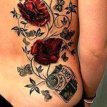 Rose and vine tattoo