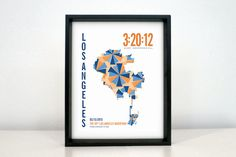 Personalize this Los Angeles Marathon print with your runners name, bib number, time and the race date. An elegant way to commemorate months and years of training.