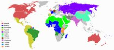 Map of world languages. Made by Misio8675309 in 2010 (Wikimedia)