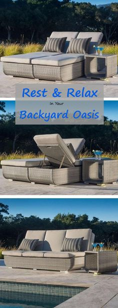Taking the traditional Euro Lounger to the next level, Sirio™, one of the world's leading outdoor furniture manufacturers has come up with a versatile design to fit everyone's needs. he accompanying side tables  is perfect for that afternoon drink or snack and with an additional tier also the right spot for that book or newspaper!