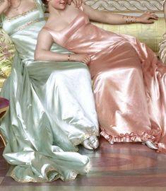 """the-garden-of-delights: """" """"La Soirée"""" (detail) by Vittorio Reggianini - mi sitio Art Ancien, Poses References, Classical Art, Renaissance Art, Renaissance Paintings, Trendy Dresses, Oeuvre D'art, Art History, Art Inspo"""
