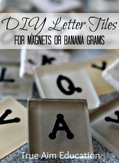 DIY Tutorial: Letter Tiles with a Gazillion Uses: Bananagrams to Magnets {Sulia article with additional links}