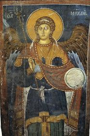 Whispers of an Immortalist: Holy Angels 5 Order Of Angels, Angels Among Us, Byzantine Icons, Byzantine Art, Fresco, Christ The King, Archangel Michael, Archangel Gabriel, Principles Of Art