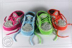 Baby Turnschuhe Sneaker von LISSA auf DaWanda.com Babyschuhe, gehäkelt…