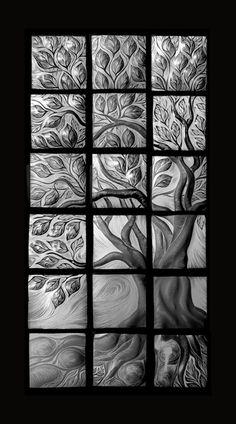 Natalie Blake:  Unglazed Tree of Life