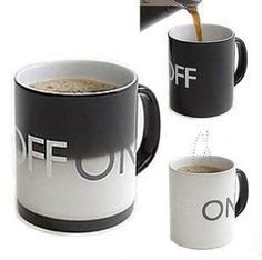 Temperature Sensing Ceramic Cup Personality Switch Milk Cup|Unique Christmas Gifts - Unusual Gifts - ByGoods.com