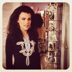 "Debi Mazar #tbt GOOD FELLAS set pic. ""French""..she said,as I then tripped over the dolly track staring at Liotta.Still have the dress! #Padgram"