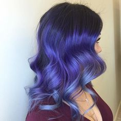 ☔️ Purple melting into Smoky Blue ☔️ by @styledbydaninaz Beautiful work…