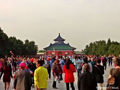 Temple of Heaven   Beijing   China   UNESCO   Crowd   Tour Group   Chinese Tour Group