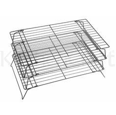 Kühlgitter, Tortengitter quadratisch, 25 x 40 cm, stapelbar