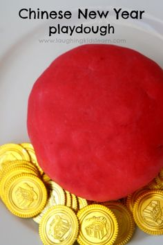 Chinese New Year red playdough