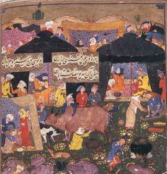 Bildschirmfoto: Harvard Mirador Viewer 16th Century, Deities, Schools, Persian, Miniatures, Paintings, Artist, Paint, Persian People