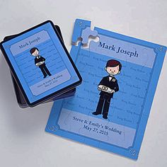 Our Ring Bearer Personalized Character 25 Pc Puzzle