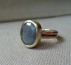 Sapphire ring-Natural grey sapphire ring