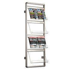 MT Displays Wall Mounted Brochure Rack
