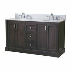 Allen Roth Bathroom Vanity allen + roth 37-in espresso kingsway traditional bath vanity
