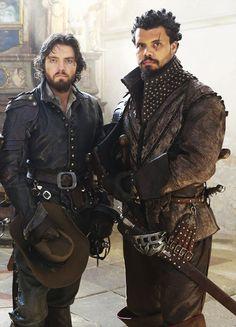 Tom Burke & Howard Charles in 'The Musketeers' (2014). x