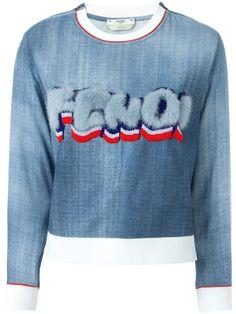 Fendi ファーロゴ スウェットシャツ - Stefania Mode - Farfetch.com