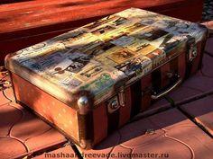 """Чемодан """"Мужской"""" - чемодан,винтаж,винтажный стиль,чемоданчик,подарок мужчине"""