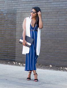 Stripes jumper and long vest