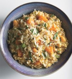// Butternut Squash Risotto with Leeks