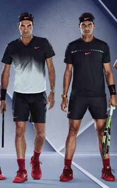 Matching outfits for Fedal at the US Open x  (Please fall on the opposite side of the draw and get in the Final.)   nike always gotta make sure the boys look good in the pics ;)