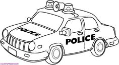 police cars coloring 01