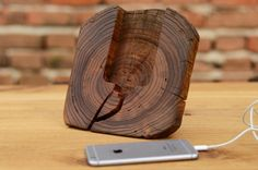Wooden iPhone Docking Station Wood iPhone 6 Dock by WoodRestart