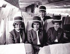 Wardair Canada Flight Attendents in a Boeing 707