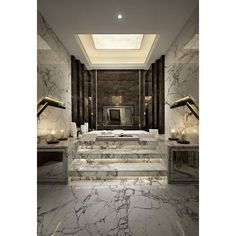 Top 8 Millionaire Bathrooms in the World ❤ liked on Polyvore featuring home, bed & bath, bath and bath accessories