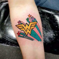 Hero Tattoo, I Tattoo, Cool Tattoos, Tatoos, Chris Morris, Autism Tattoos, Wonder Woman, Little Tattoos, Tattoos For Women