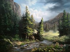 """Wildflower Mountains"" by Kevin Hill    Check out my YouTube channel: KevinOilPainting    For more information about brushes, DVDs, events, and more go to: www.paintwithkevin.com"