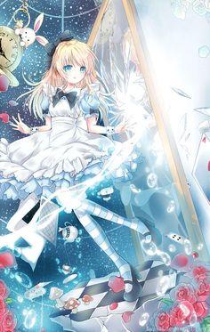 Alice in wonderland - anime style Anime Chibi, Art Anime, Anime Kunst, Anime Artwork, Kawaii Anime Girl, Anime Girls, Manga Anime, Beautiful Anime Girl, I Love Anime