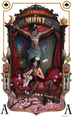 Cirque du Mort Art Print by Rudy Faber. So Nice. Vintage Circus Posters, Dark Circus, Cirque Vintage, Art Du Cirque, Image Digital, Circus Theme, Circus Art, Cabaret, Canvas Prints