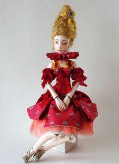Art doll jointed Harriet  OOAK by VilmaDollsHouse on Etsy