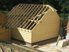 Cart Lodge and Garage Construction - Classic Suffolk Timberframes Timber Frame Garage, Garage Construction, Garden Buildings, Garages, Sheds, Lodges, Cart, Outdoor Structures, Architecture