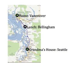 Using google maps to help the kids follow your journey. Car trip geography for kids, teaching kids about maps, keeping them busy in the car. Geography For Kids, Maps For Kids, Geography Lessons, Road Trip With Kids, Travel With Kids, Family Travel, Road Trip Activities, Activities For Kids, Vancouver
