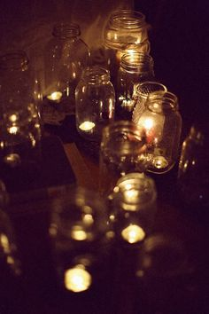 mason jars and votives. simple and perfect.