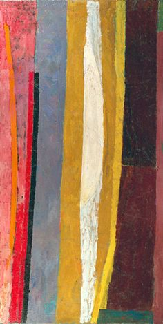 James Daugherty (1887-1974)  Abstraction, ca. 1958  Oil on canvas, 84-1/2 x 42-1/2 inches