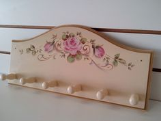 Sculpture Painting, Tole Painting, Painting On Wood, Decoupage Vintage, Shabby Chic Flowers, Shabby Chic Decor, Diy And Crafts, Crafts For Kids, Craft Projects