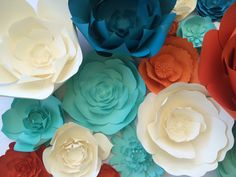 Paper Flower Wall Decor large paper flower backdrop by PaperFlora
