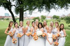 Claire + Blaine June Wedding | Grey Bridesmaids | @tracyautem