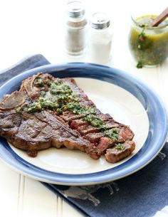 Learn how to butter-baste a steak and do the most easy chimichurri sauce. I used Moyer Beef as fresh great quality meats are key. --- VIDEO on post! #sponsored