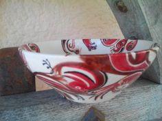 Réservé : Saladier ou grand bol de présentation, décors modernes : Cuisine et service de table par poteries-f-b-creamix-s